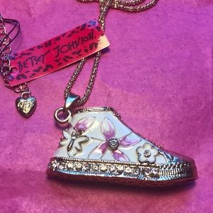 REDUCED Betsey Johnson sneaker necklace